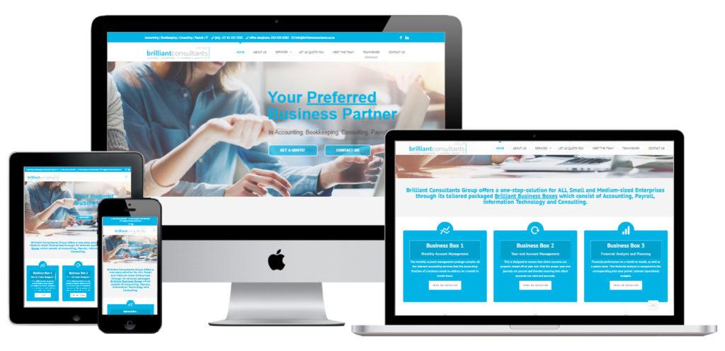 Brilliant Consultants Group Website Design