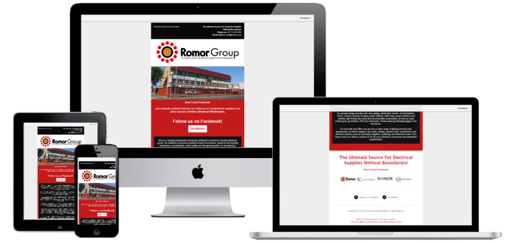 Romor Electrical Group Email Campaign Design